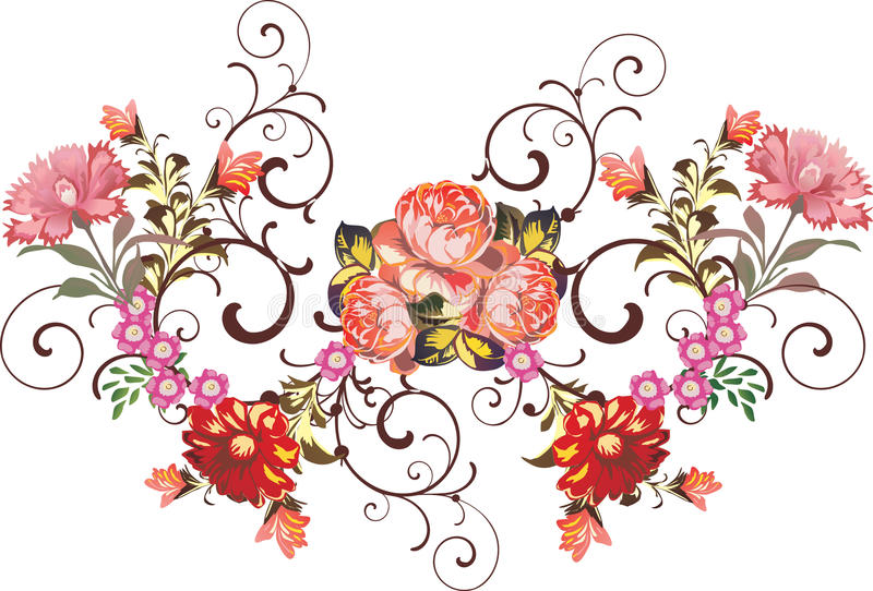 Red And Pink Flower Decoration Royalty Free Stock Photos