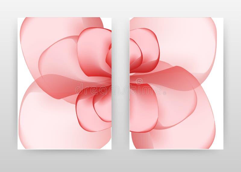 Red pink flower petal design of annual report, brochure, flyer, poster. Red flower concept white background vector illustration. For flyer, leaflet, poster vector illustration