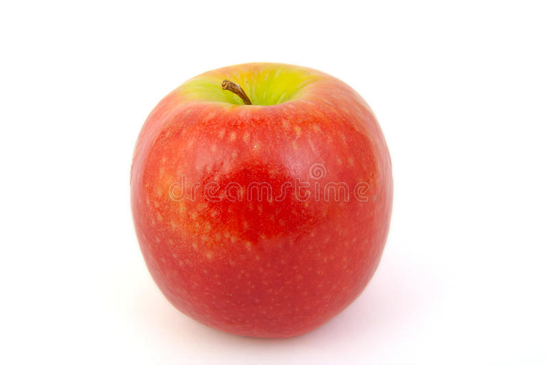 Red Pink Lady apple. On white background royalty free stock photo