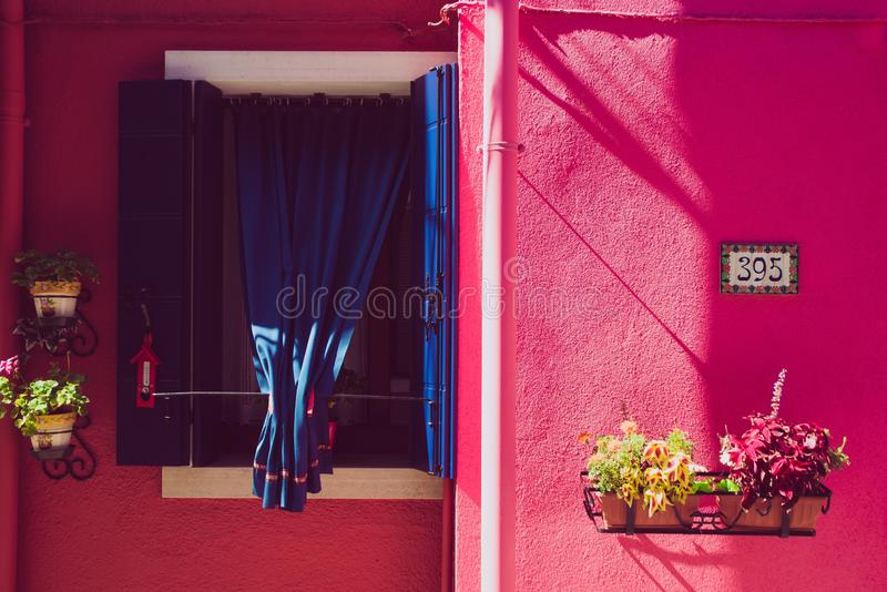 Red, Pink, Purple, Room stock photo
