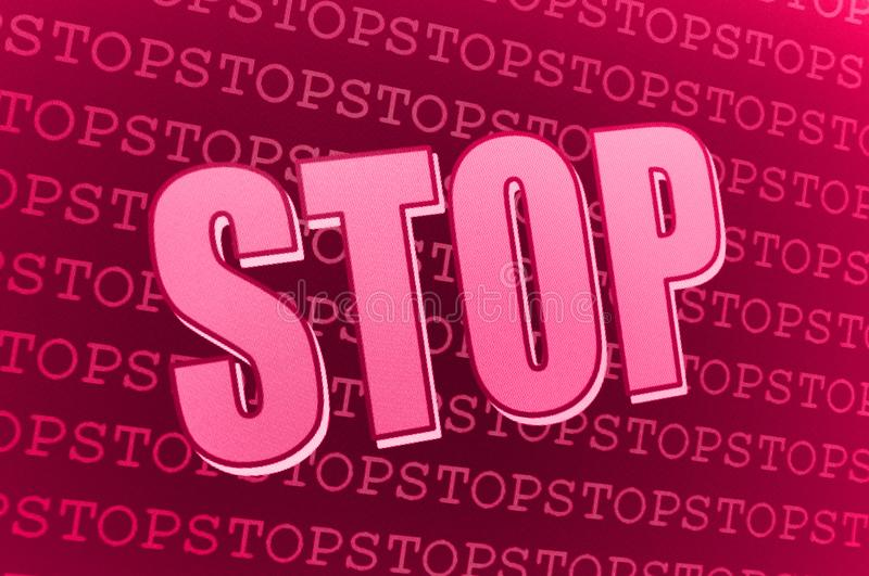 Download Red pink Stop sign stock illustration. Illustration of illustration - 13885227