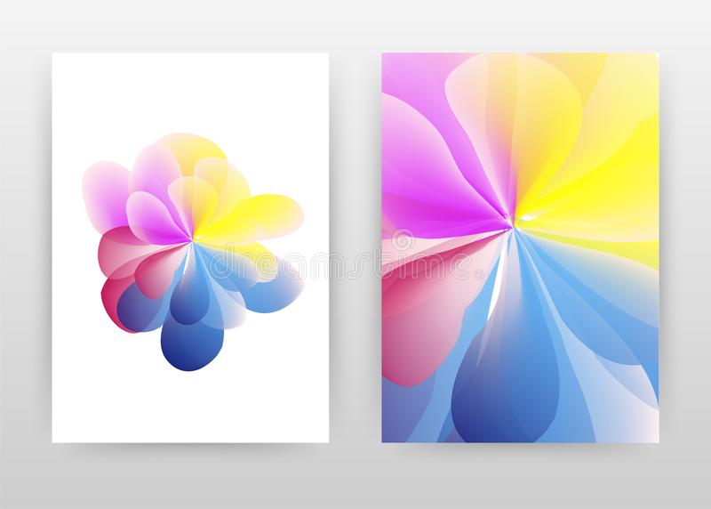 Red pink yellow blue flower petal abstract design of annual report, brochure, flyer, poster. Colorful flower concept white. Background vector illustration flyer vector illustration