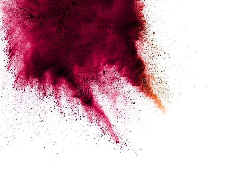 Red pink yellow color of powder stock photo