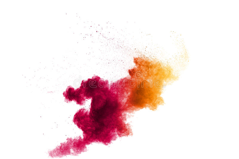 Red pink yellow color of powder royalty free stock photo