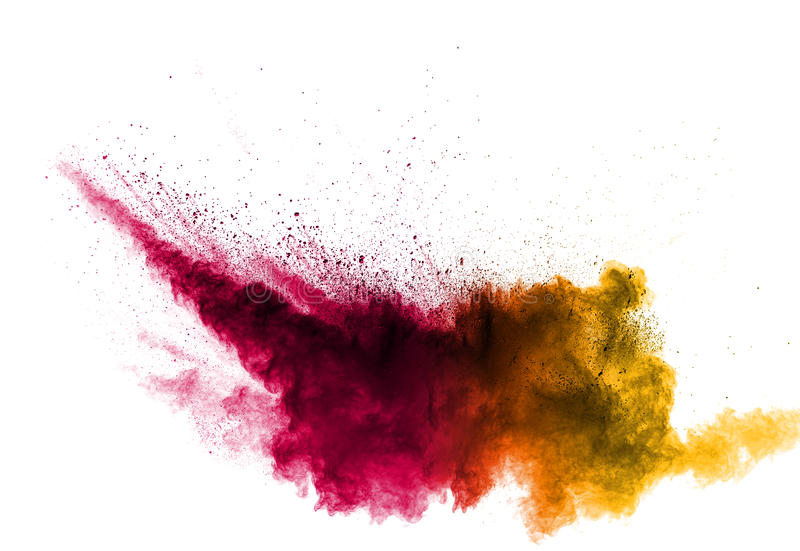 Red pink yellow color of powder stock photos