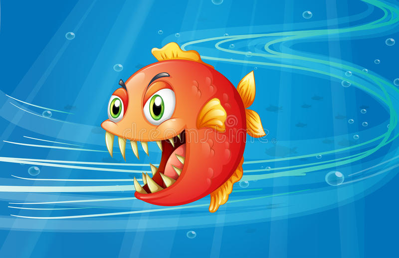 Download A Red Piranha Under The Sea Stock Images - Image: 31676164