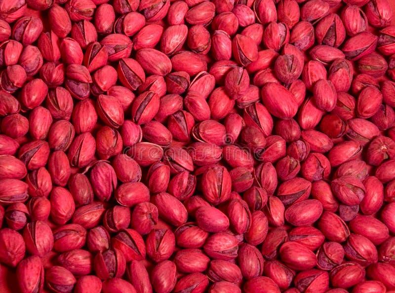 Red Pistachios stock photos