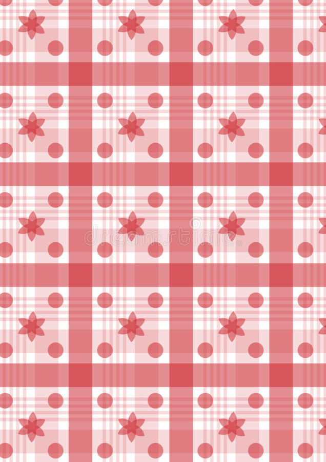 Download Red plaid stock vector. Image of kitchen, circle, line - 19643337