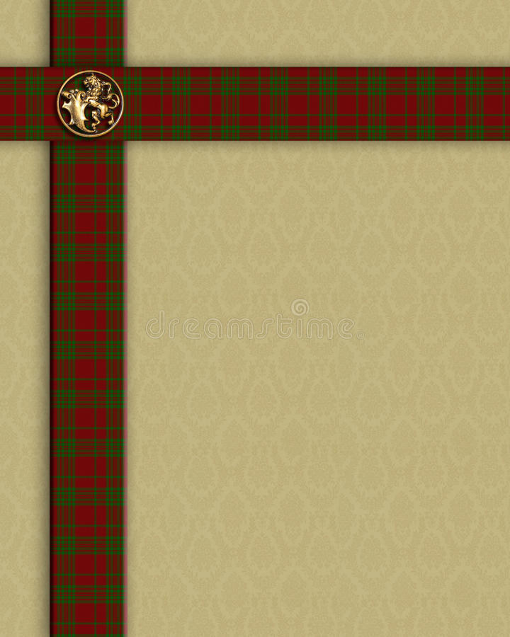 Red Plaid border template royalty free stock photography