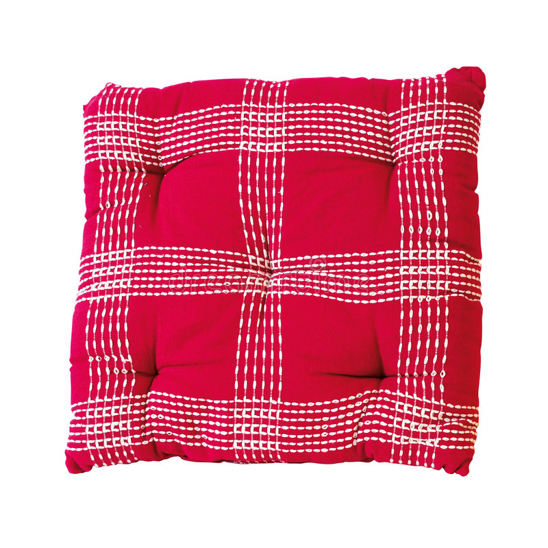 Download Red plaid pillow stock photo. Image of design, pillow - 9167704