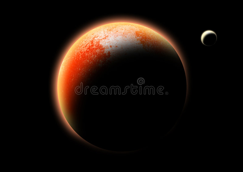 The red Planet stock illustration