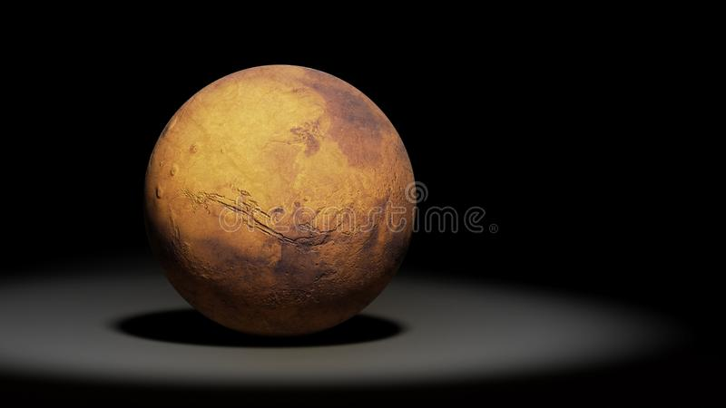 Planet Mars, the red planet, solar system set royalty free stock images