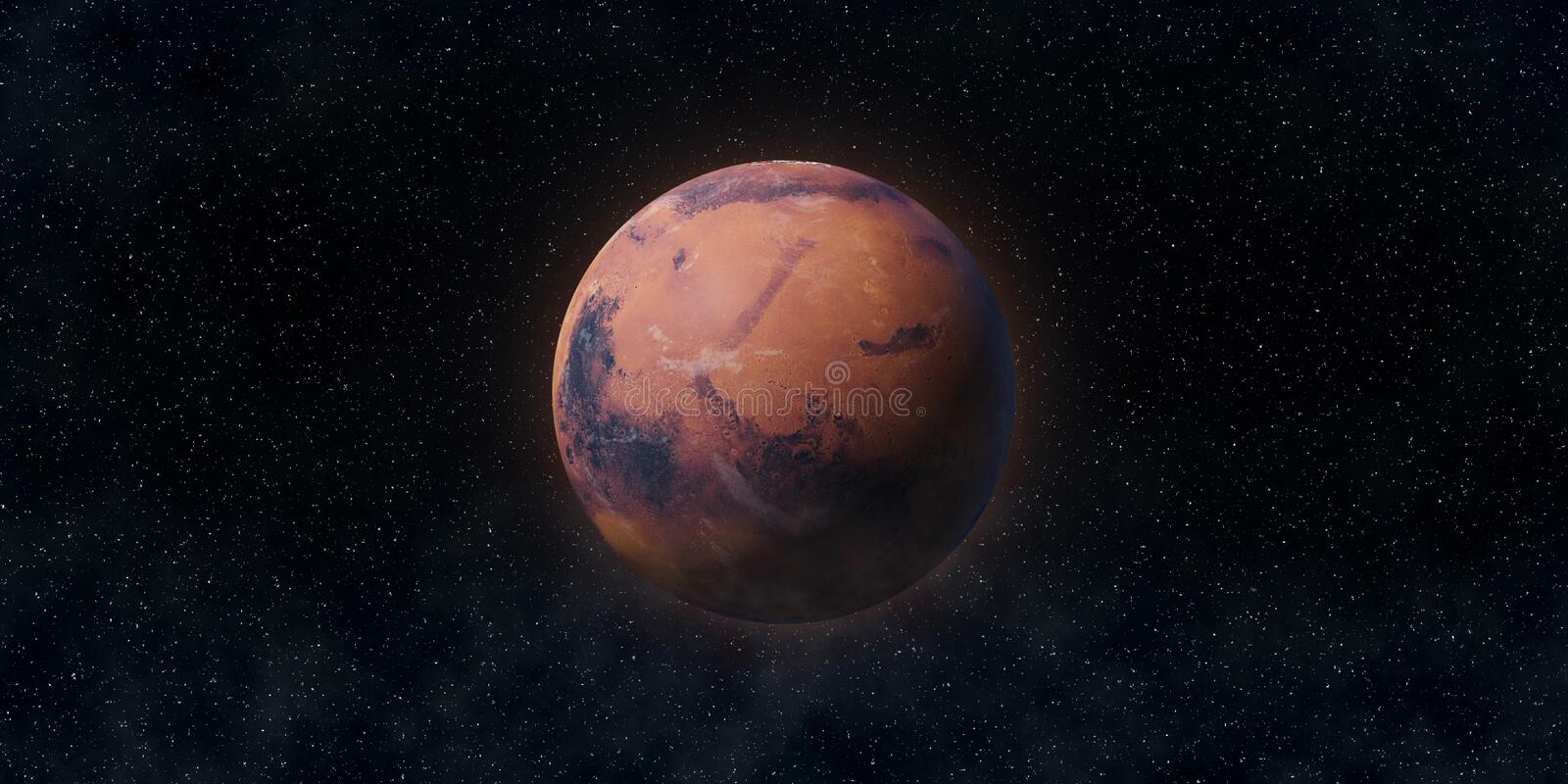 Red planet Mars. Astronomy and science concept. Elements of this image furnished by NASA. Red planet Mars. Astronomy and science concept. Elements of the image royalty free stock images