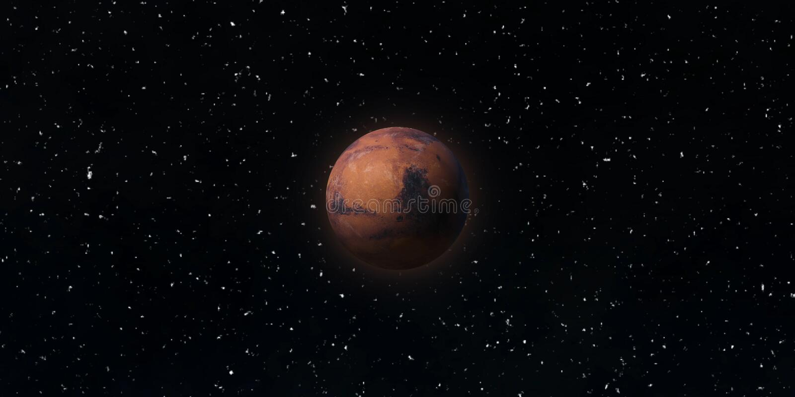 Red planet Mars. Astronomy and science concept. Elements of this image furnished by NASA. Red planet Mars. Astronomy and science concept. Elements of the image royalty free stock photography