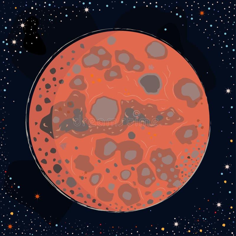 Red Planet Mars royalty free illustration