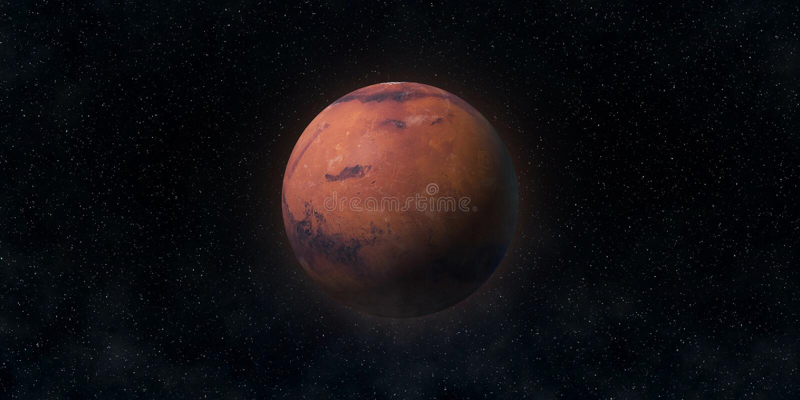 Red planet Mars. Astronomy and science concept. Elements of this image furnished by NASA royalty free stock images