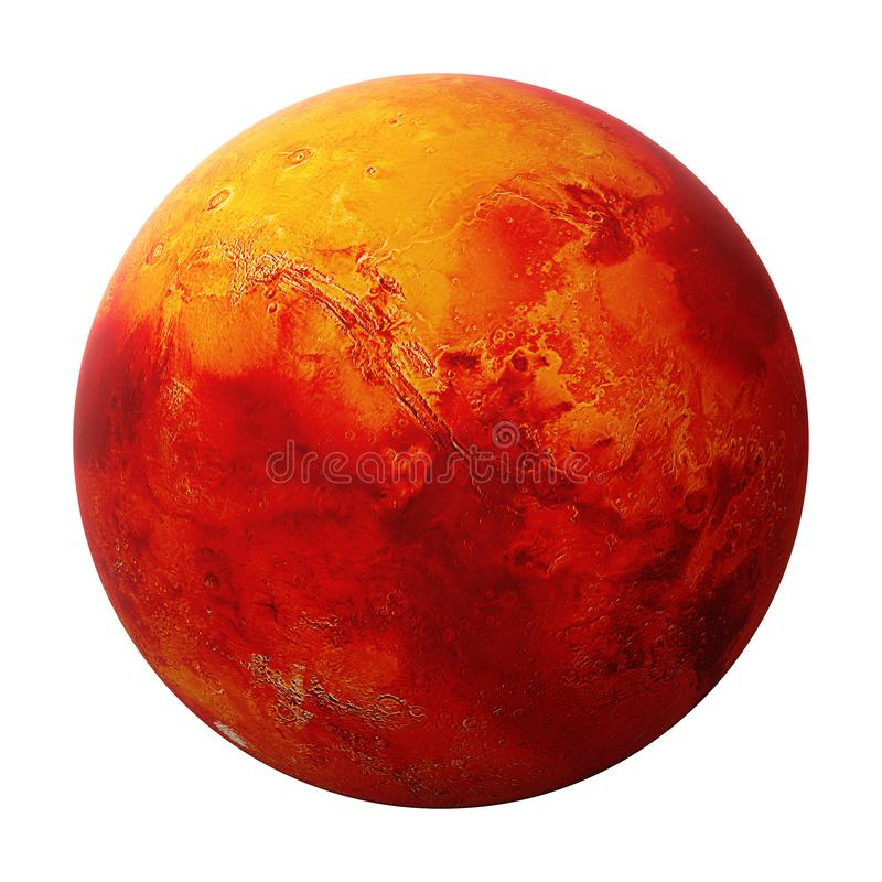 Mars, the red planet. The red planet, neighbour of planet Earth stock photography