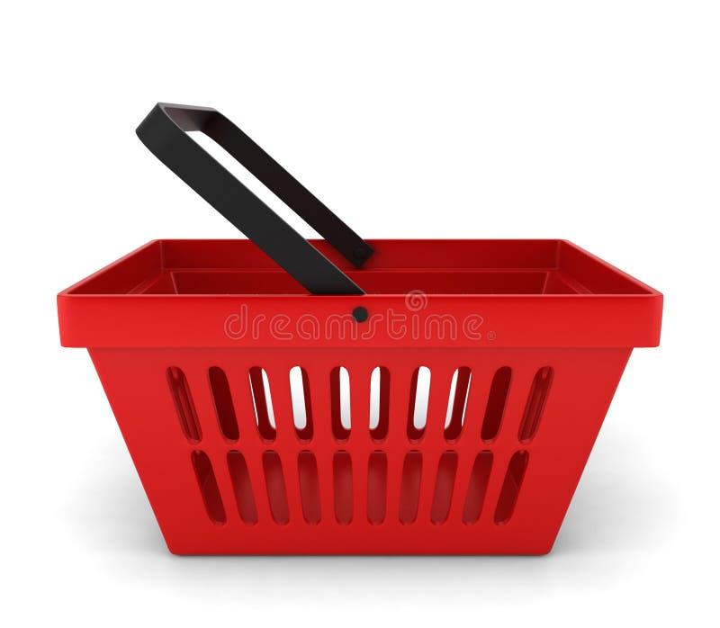 Red plastic basket stock illustration