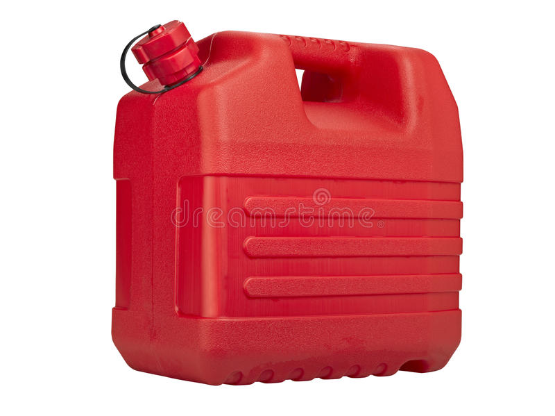 Red plastic can royalty free stock images