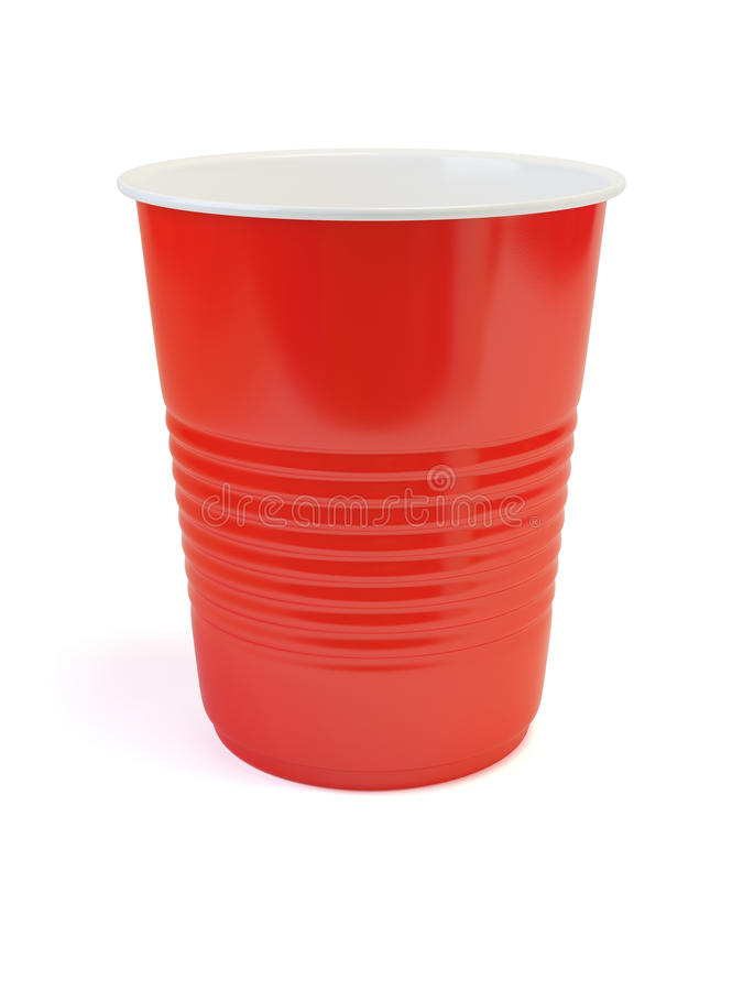 Red plastic cup stock image