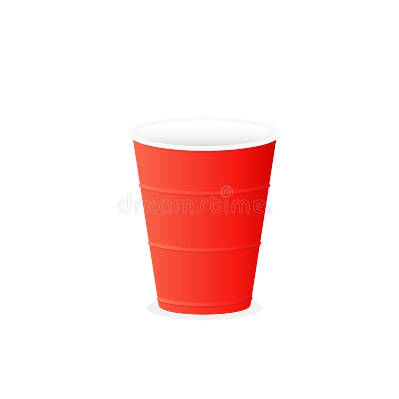 Free Red Plastic Cup Sticker Royalty Free Stock Photography - 139834337