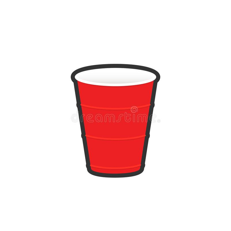 Free Red Plastic Cup Sticker Royalty Free Stock Photo - 139834345