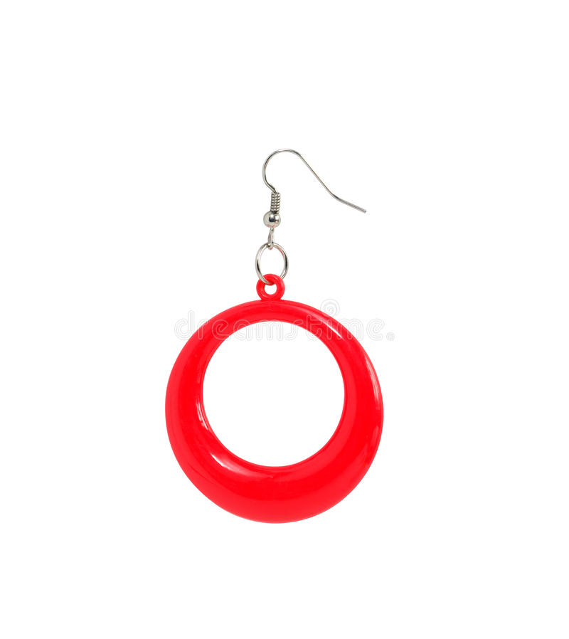 Download Red Plastic Earring stock image. Image of white, plastic - 23201653