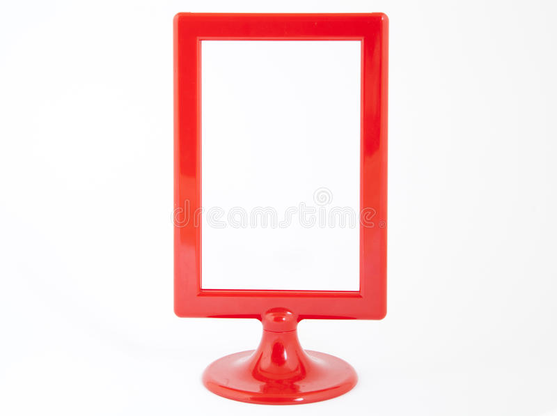 Red plastic photo frame royalty free stock images
