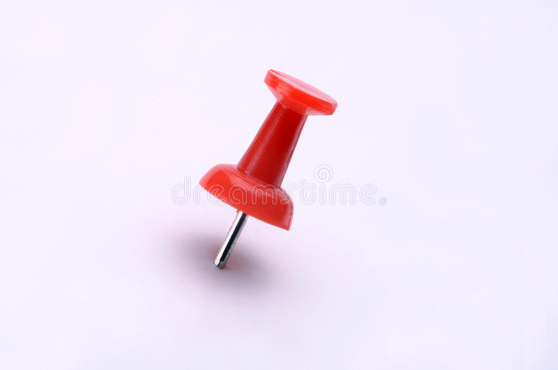 Download Red Plastic Push Pin stock image. Image of white, pushed - 12825191