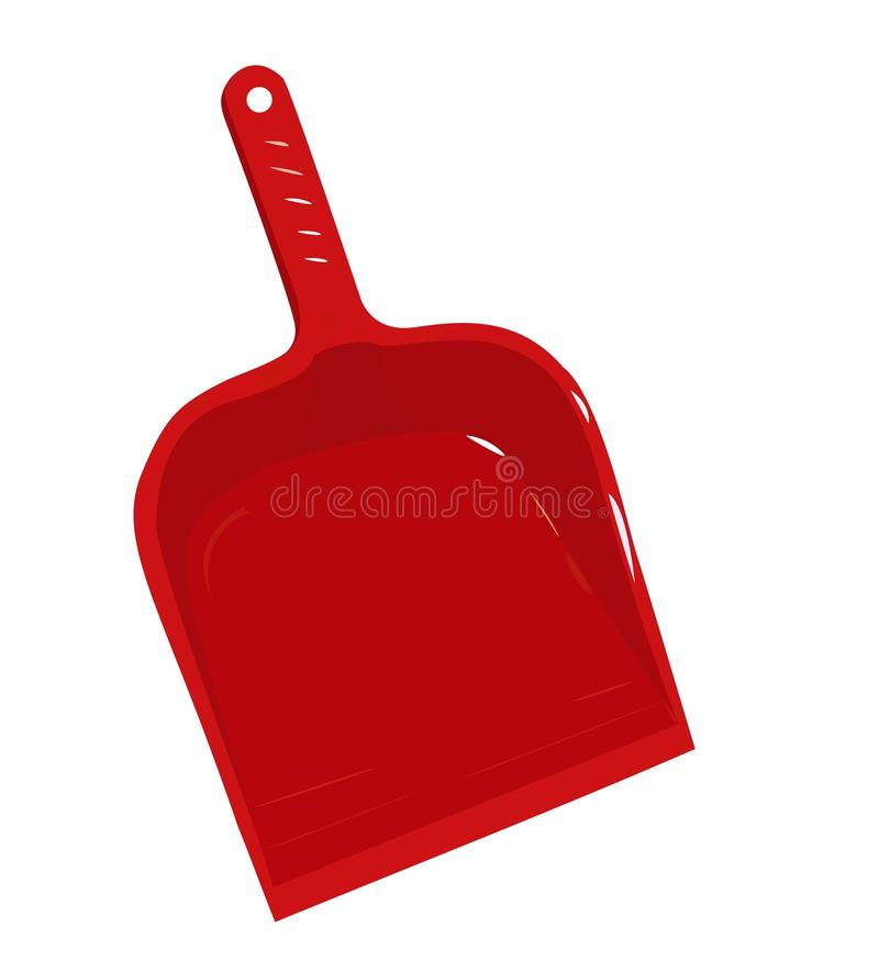 Download Red Plastic Scoop For Dust Royalty Free Stock Images - Image: 12494999