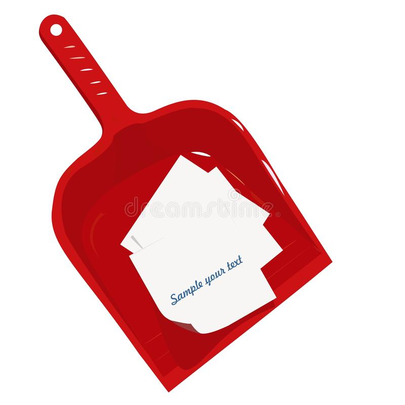 Download Red Plastic Scoop And Sticker Stock Vector - Illustration of garden, equipment: 12495009