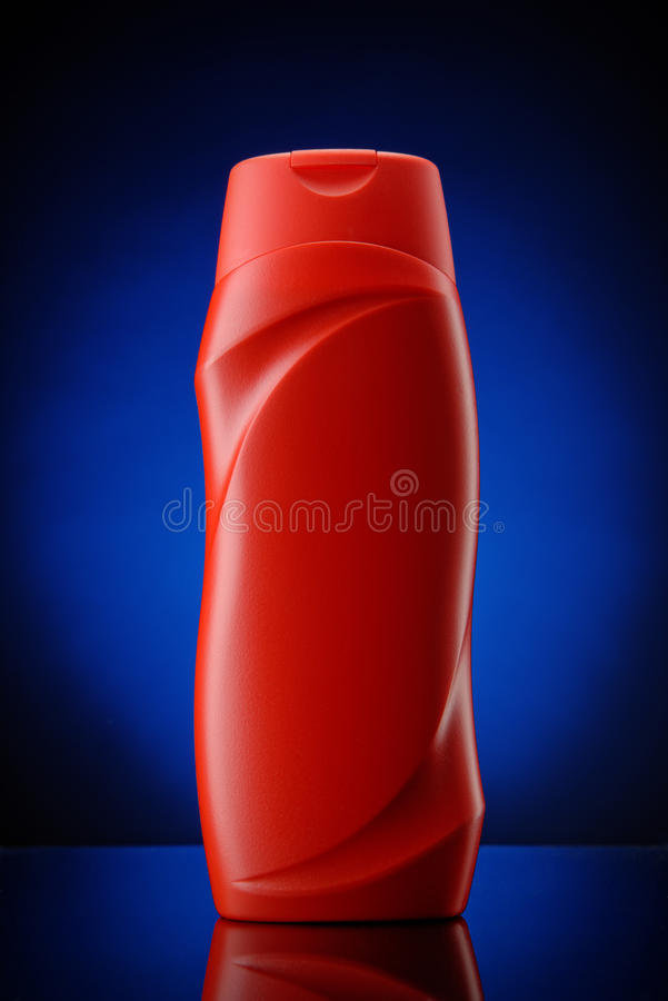 Download Red Plastic Shampoo Container Stock Image - Image: 43103447