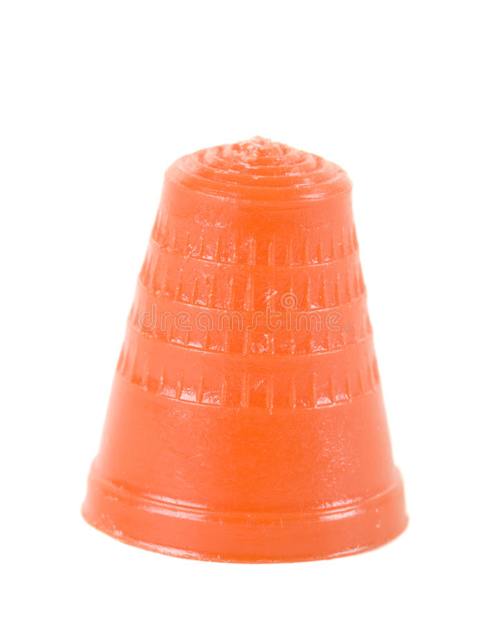 Free Red Plastic Thimble Royalty Free Stock Photo - 13574065