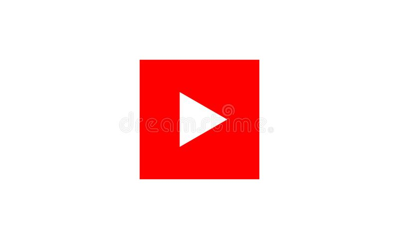 red play vector logo icon button youtube flat social media stock rh dreamstime com red triangle logo 6 letters red triangle logo name
