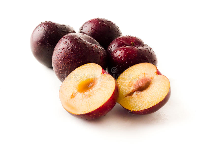 Red Plums royalty free stock photo