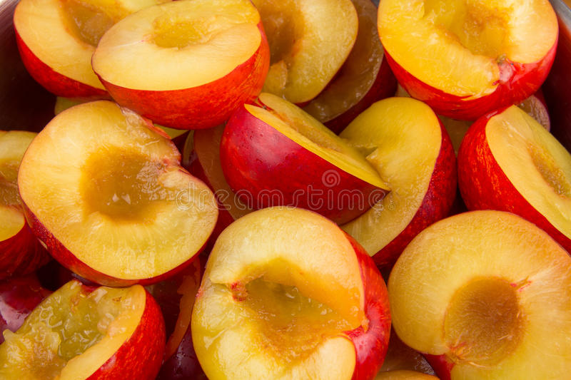 Download Red plums without stones stock photo. Image of group - 28476646