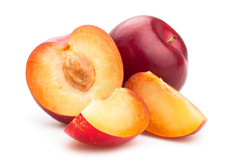 Download Red plums stock photo. Image of fresh, bright, group - 44727634
