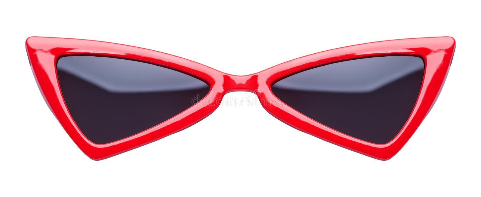 Red Pointed Sunglasses royalty free stock photography