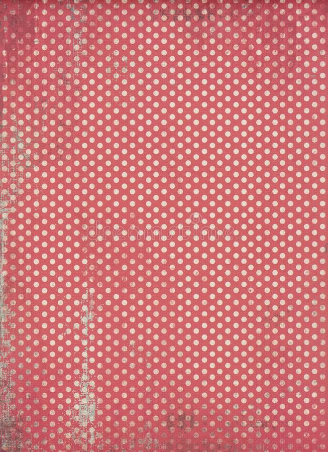 Red polka dot background. Red and white polka dot background stock photography
