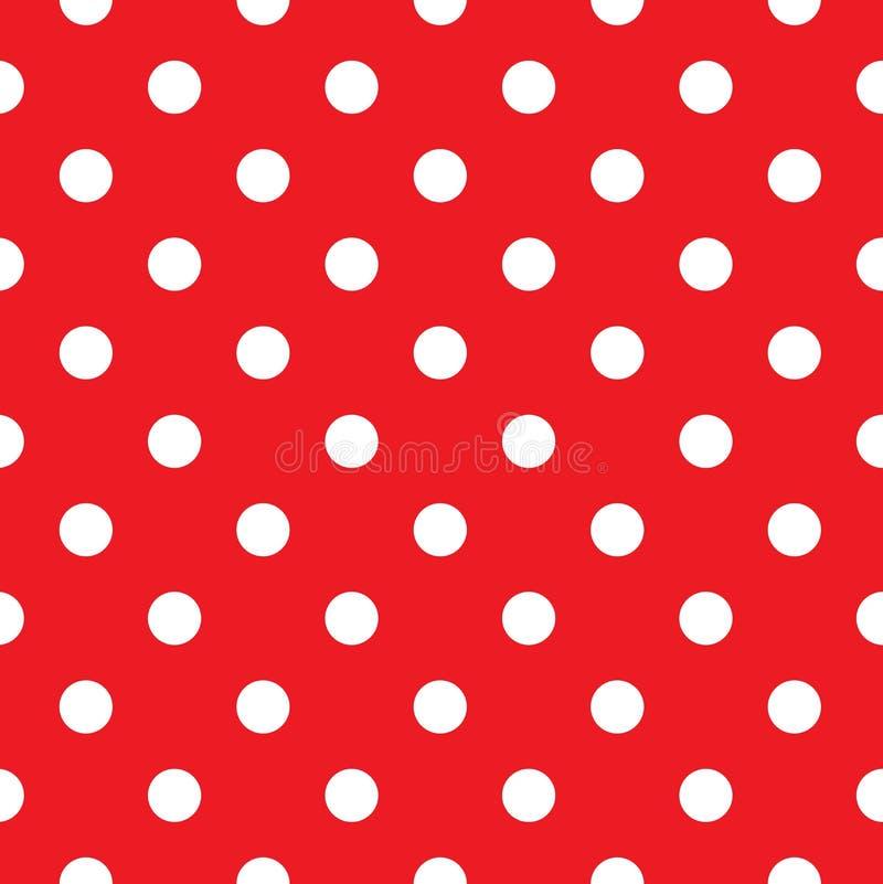 Red polka dot seamless stock illustration