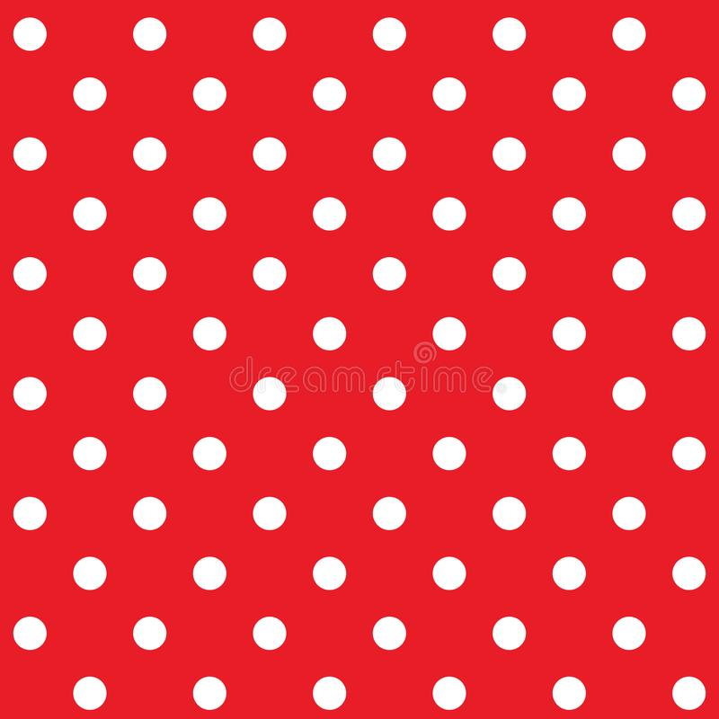 Red polka dot seamless pattern. Vector royalty free illustration