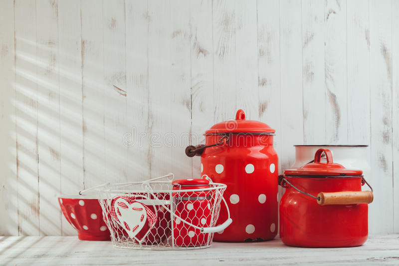 Red Polka Dot Utensils Stock Image Image Of Little