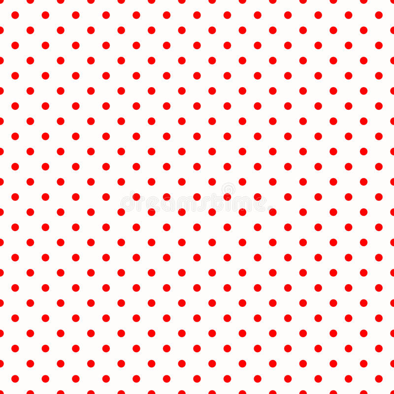 Red polka dots on white pattern stock illustration for Red and white polka dot pattern