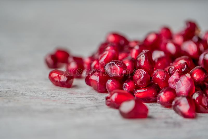 Red Pomegranate Seeds royalty free stock images