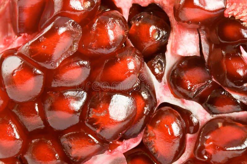 Red Pomegranate Seeds Royalty Free Stock Photo