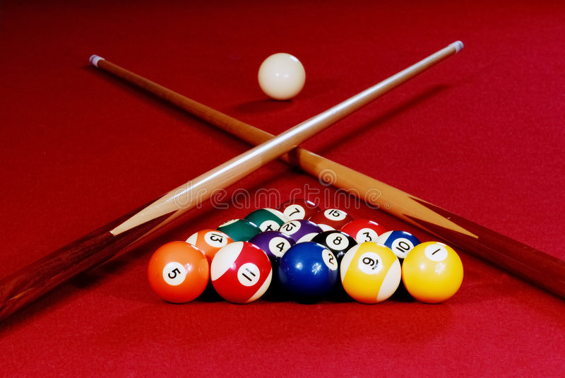 Download Red Pool Table stock photo. Image of play, shot, break - 1669798
