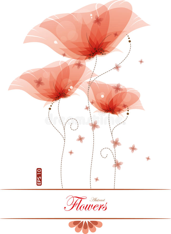 Red poppies stock illustration