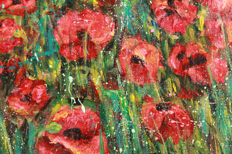 Red poppies royalty free illustration