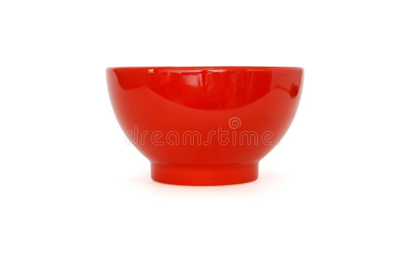 Download Red Porcelain Bowl Side View Isolated Stock Photo - Image: 10717254