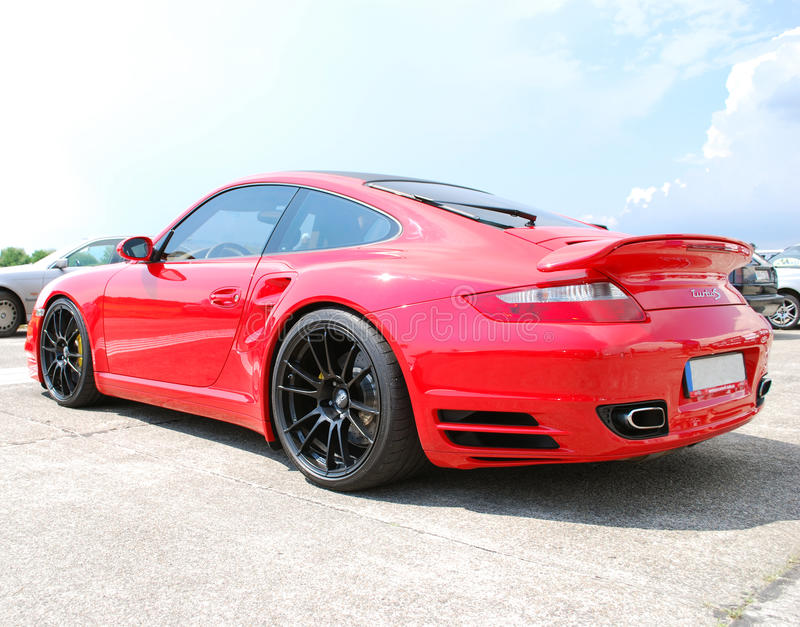 Download Red Porsche 911 editorial stock photo. Image of drive - 15064818